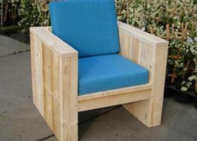 steigerhouten loungstoel bokasami
