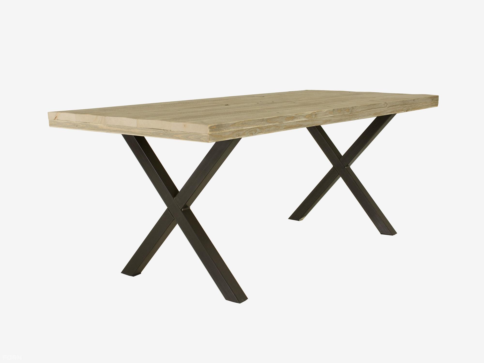 Tafel Stalen Frame : Stoere tafel met stalen frame curacao woodgoed meubelmakerij