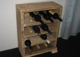 steigerhouten wijnrek curacao