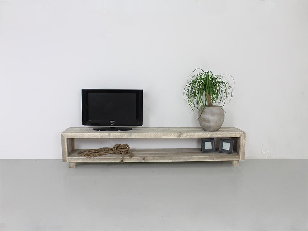 Tv Meubel White Wash.Steigerhouten Tv Meubel