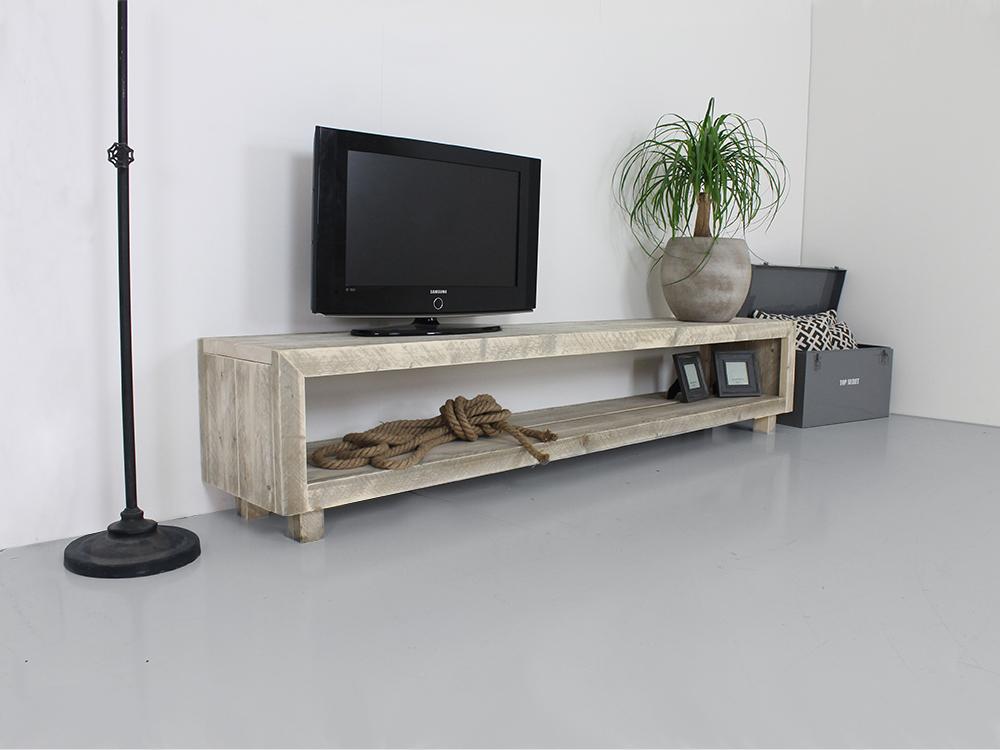Steigerhouten tv meubel for Steigerhout tv meubel maken