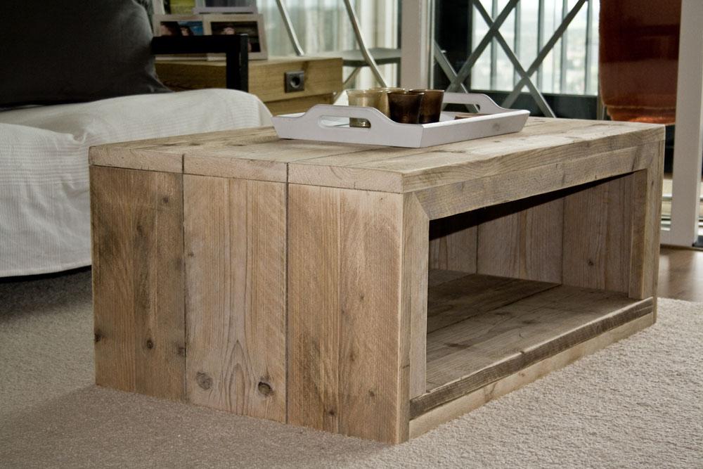 Salontafels Curacao - Unieke steigerhouten meubels op maat gemaakt