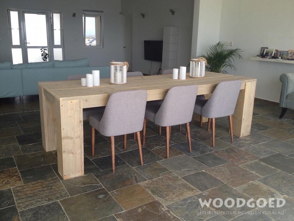 Steigerhouten tafel willemstad leverbaar in elke for Stijgerhout tafel